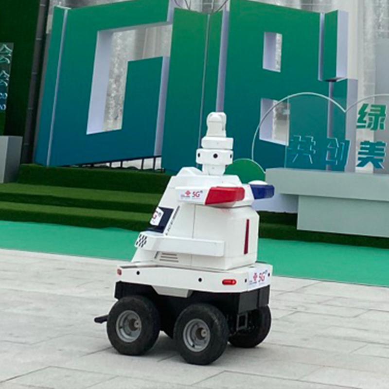 博众机器人公司 展会景区工厂室外 5G安防机器人 智能巡逻机器人 全天自主导航 移动巡逻检查 360摄像头