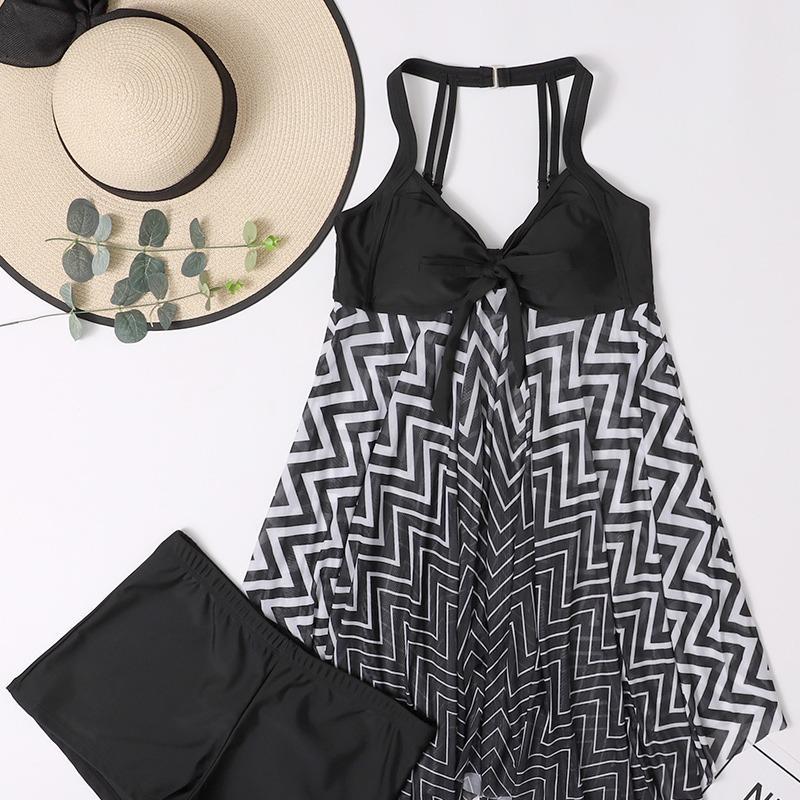 新款比基尼性感黑色分体泳衣
