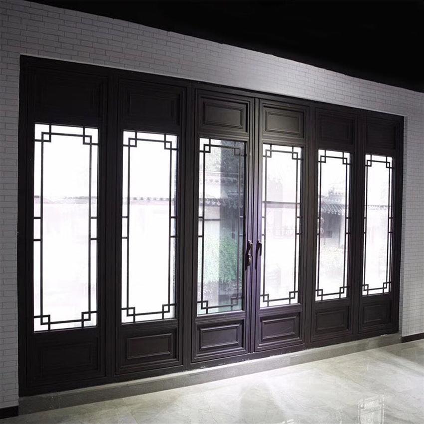 廠家提供 防夾手折疊門 中式折疊門 復古風格 76系列 浙江杭州中譽