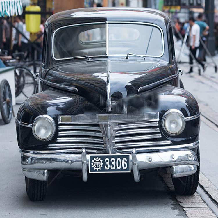 无穷大 黑色复古电动老爷车 影视拍摄复古老爷车道具
