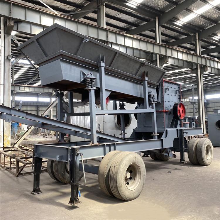 日产600吨石子整形机 鸿宇移动式方箱破碎站厂家 石料加工厂设备
