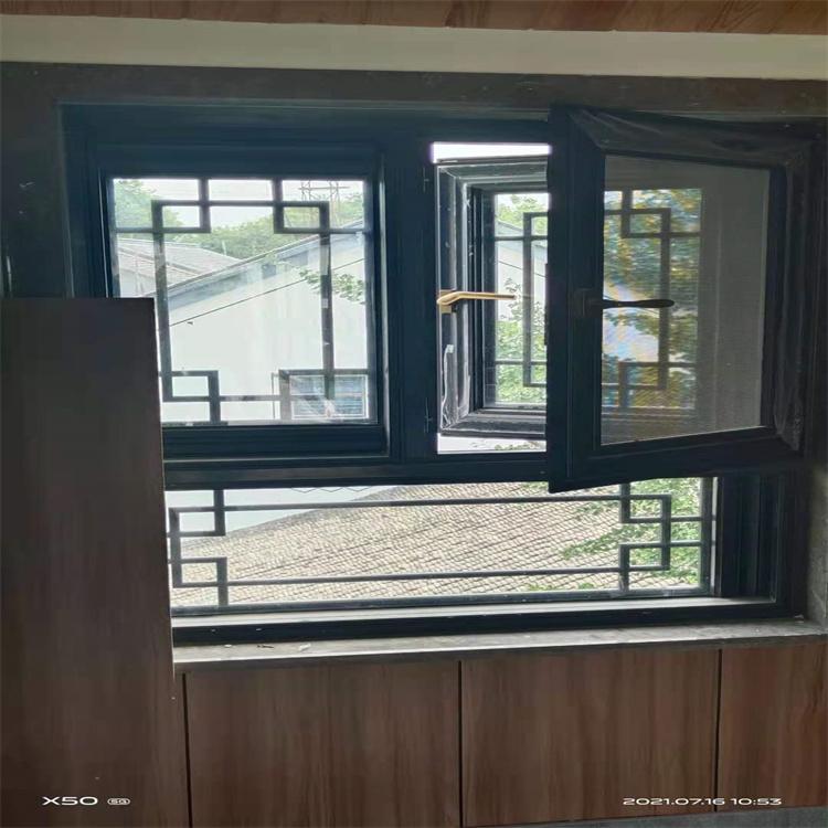 定制復古門窗配送安裝一體化服務 中式仿古門窗 斷橋鋁合金門窗 杭州中譽門窗