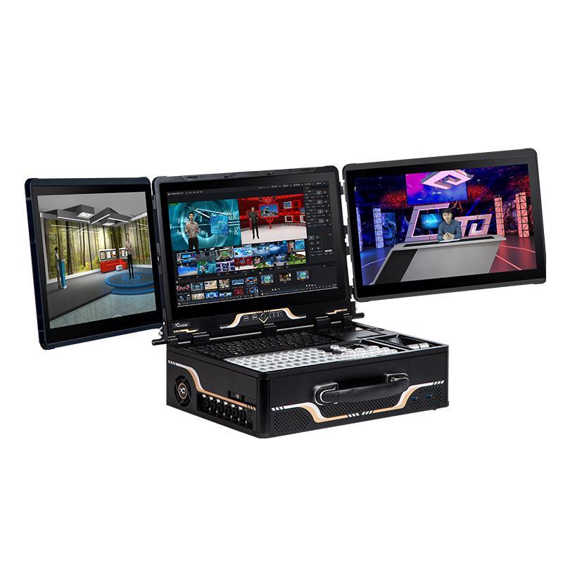天创华视多媒体一体机 便携式教学网络直播导播一体机