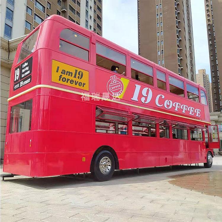 福瑞晟达 大型复古双层巴士 影视拍摄双层巴士道具 源头厂家
