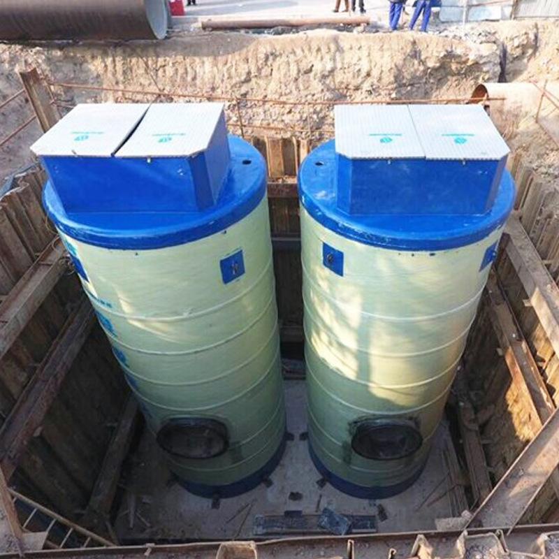 宏丰 玻璃钢一体化泵站 市政雨水排涝泵站 污水提升处理泵站 型号齐全支持定制