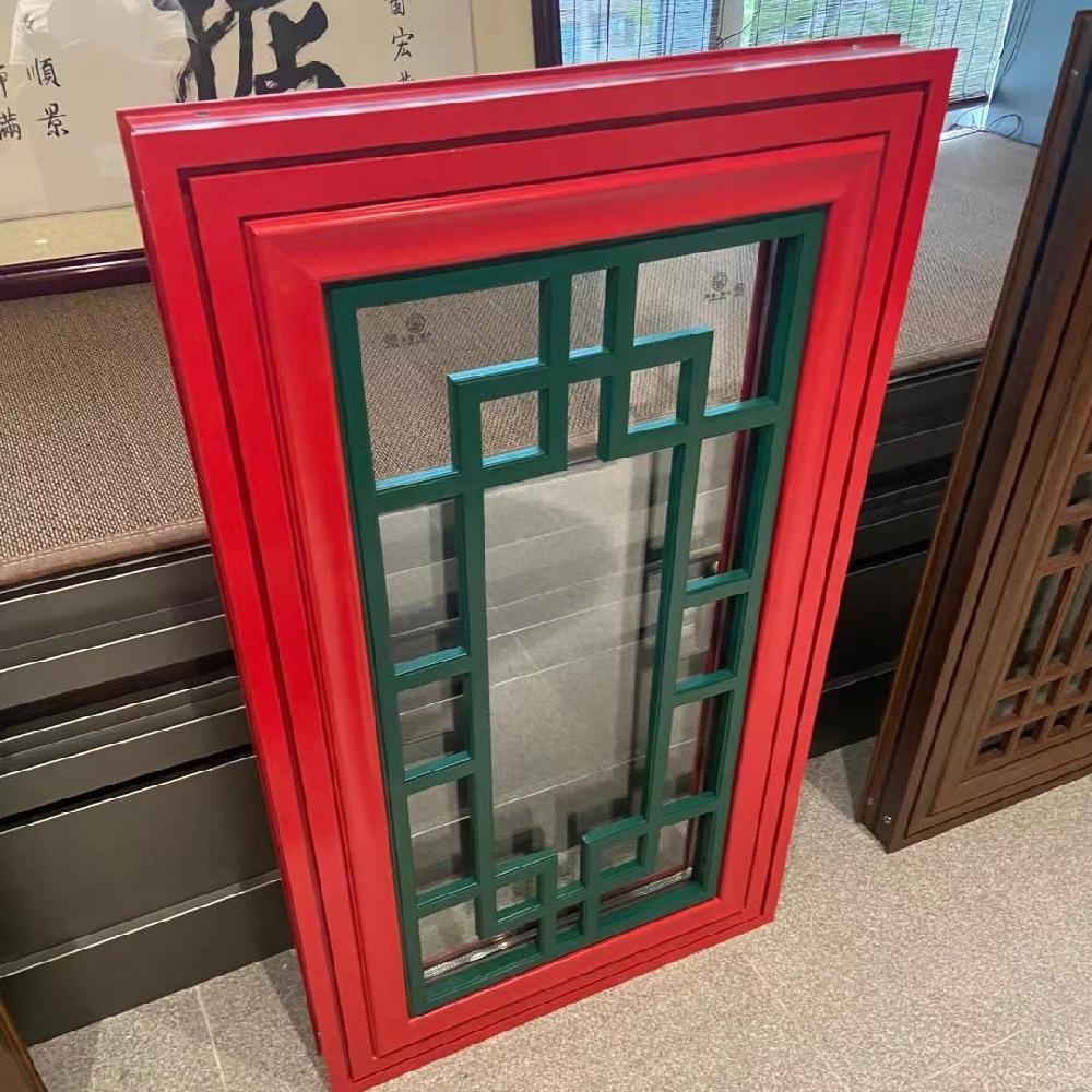 巴森 烟台 仿古门窗生产厂家 中式仿古隔断门窗 来图定制