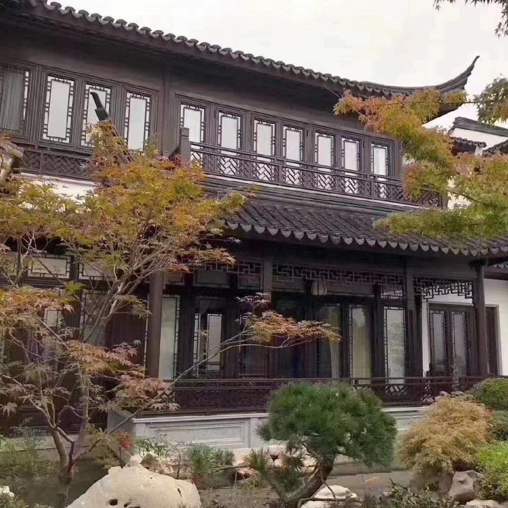 巴森 武汉 铝合金中式仿古门窗 新中式仿古铝合金门窗 免费设计