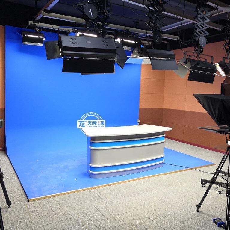 天创华视真三维虚拟演播室设备 融媒体演播室搭建厂家
