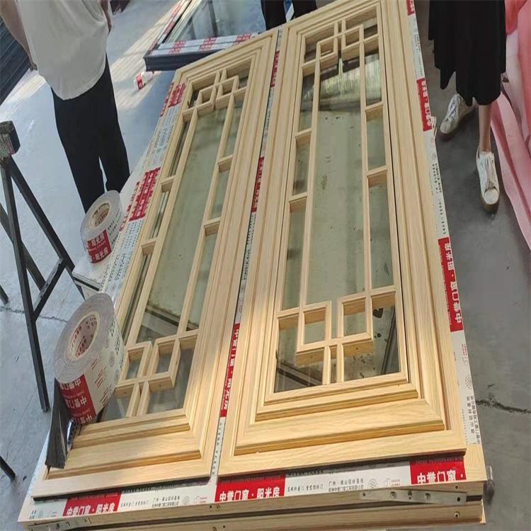 廠家定制 新中式仿古門窗 杭州中譽復古門窗 仿古推拉門窗