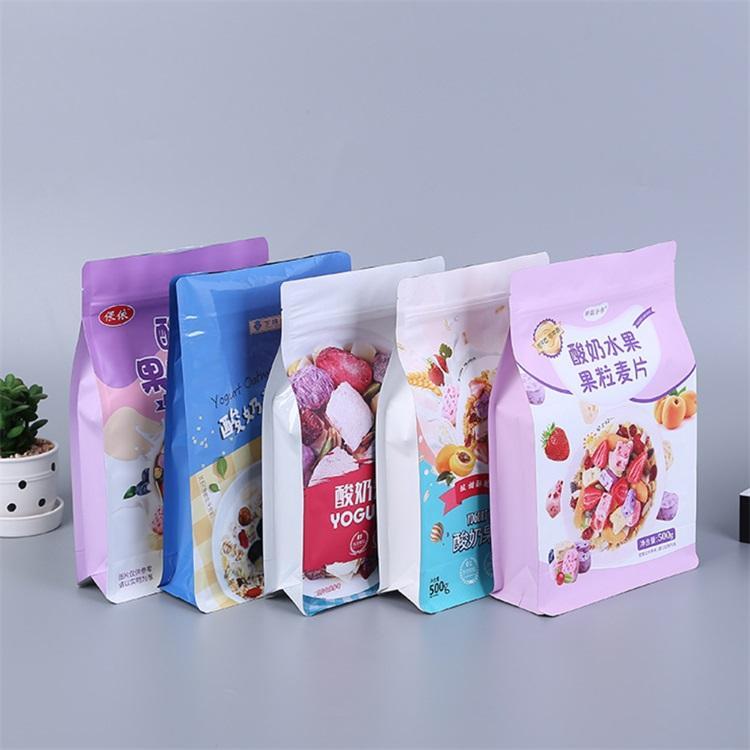 燕麦片包装袋/水果麦片包装袋/自立拉链袋/八边封包装袋/金霖