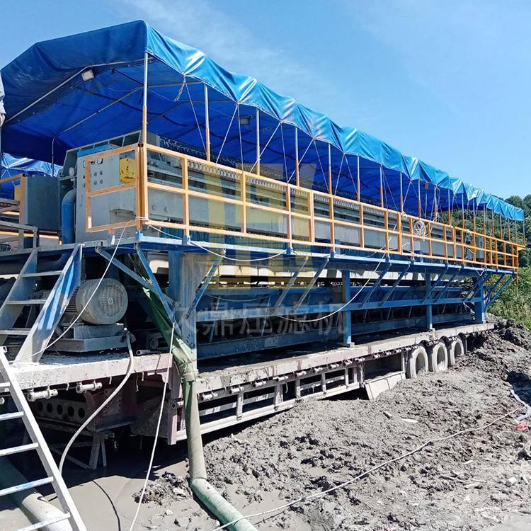 打桩泥浆压滤机厂家 郑州河道泥浆压滤机价格 久鼎压滤机